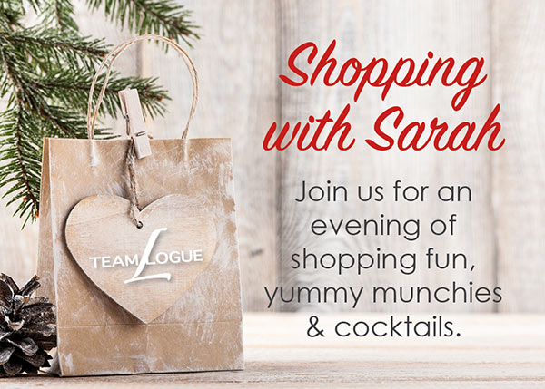 Team Logue | Burlington & Oakville real estate events Shopping With Sarah Invitation