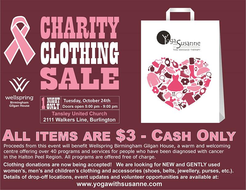 Team Logue | Burlington & Oakville real estate charity clothing sale event 2017