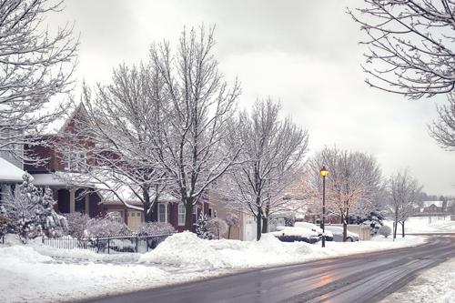 Street scene in winter